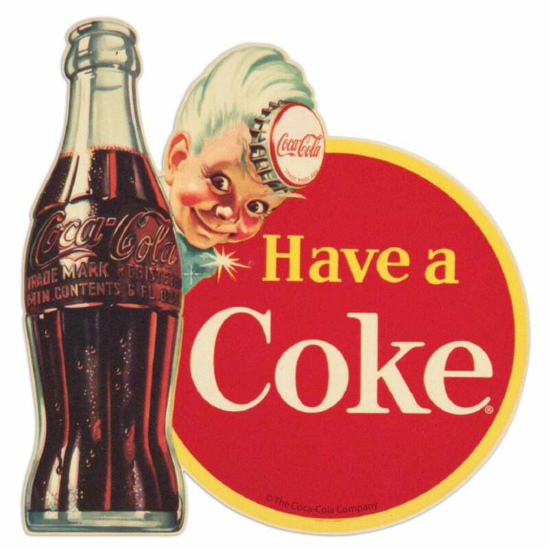 Coca-Cola Have A Coke Sprite Boy Mini Vinyl Sticker Vintage Style