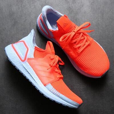 Adidas UltraBOOST 19 Solar Red/ Glow ✅ UK7 US7.5 EU40 2/3 Orange Boost Runner