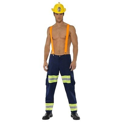Sexy Firefighter Costume for Men Adult Halloween Fancy Dress