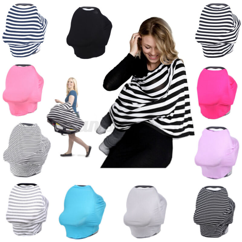 Nursing Scarf Cover Up for Breastfeeding Baby Car Seat Stroller Canopy Blanket