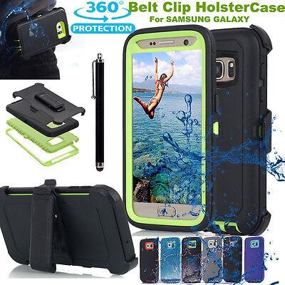 Hybrid Rugged Case Cover & Belt Clip Holster for Samsung Gal