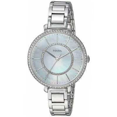 Fossil Women's Watch Jocelyn Mother of Pearl Dial Silver Tone Bracelet ES4451
