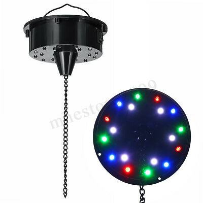 6RPM RGB Light Rotating Motor 18 LED For Mirror Disco Ball 6