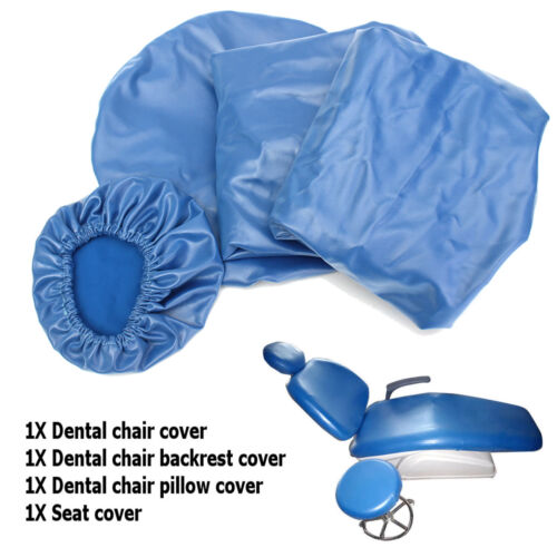 1Set/4Pcs 125X60CM Leather Waterproof Elastic Dental Chair Seat Cover Protector