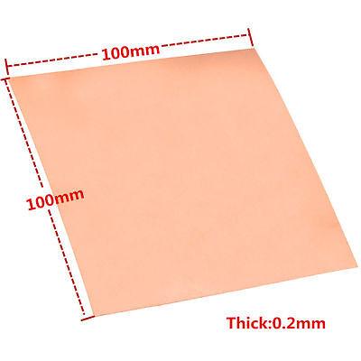 99.9 Pure Copper Cu Metal Sheet Plate 0.2mm100mm100mm