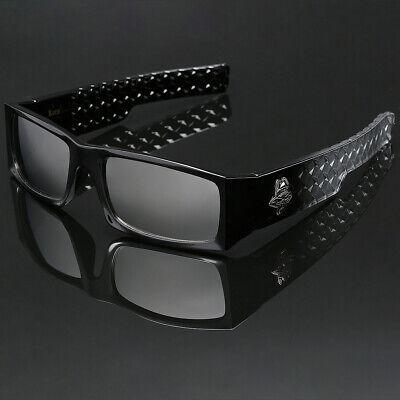 Black Bold Locs Square Men Mirrored Super Dark Sunglasses Cholo Gangster (Super Sunglasses For Men)