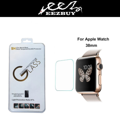 Real Tempered Glass Film Screen Protector for Apple watch Iwatch 38mm