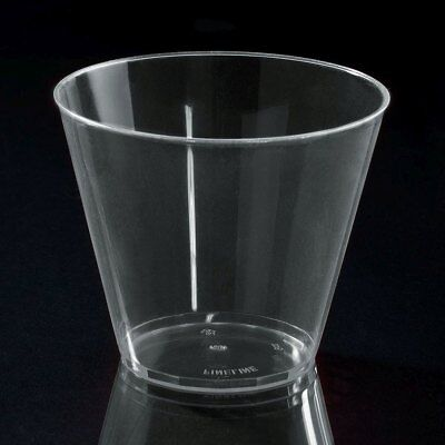 10 hard PLASTIC PARTY CUPS 9ounce Clear Tumblers cocktail shot squat Gobelet Cup - Plastic Cocktail Cups