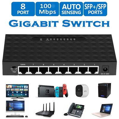 Mini Ethernet Network Desktop for Switch 8Port 10/100Mbps Lan Fast Internet Hub
