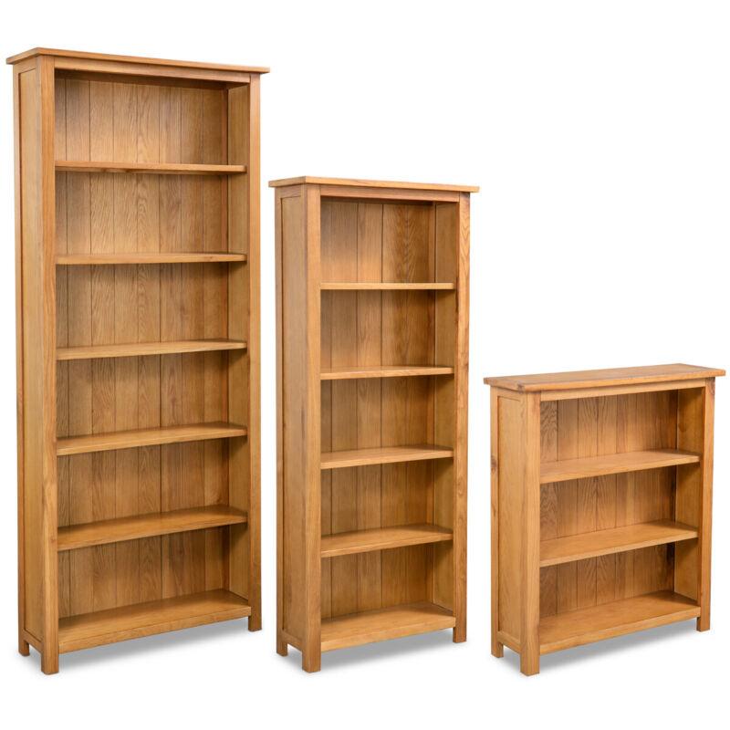 vidaXL Solid Oak Wood 3/5/6-Tier Book Shelves Cabinets Display Shelf