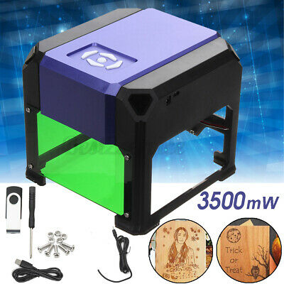 3500mw Laser Engraving Cut Machine Diy Logo Printer Carver Cnc Engraver Desktop