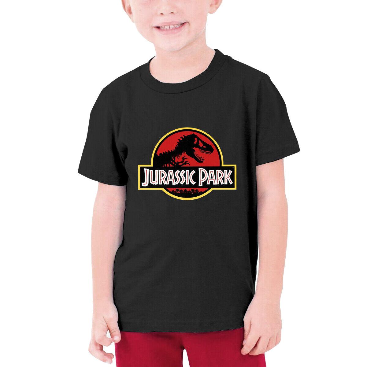 Jurassic Park Dinosaur Graphic Kids Boys Short Sleeve T Shirt Crew