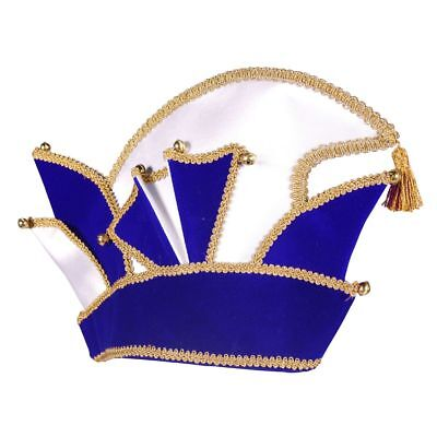 THE - Kostüm Zubehör Komitee Mütze Prinz Karneval - Blaue Mütze Kostüm