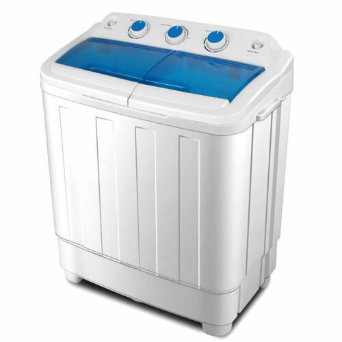 7.6KG Waschmaschine Wäscheschleuder Wäschetrockner Freistehend  Doppelwannnen