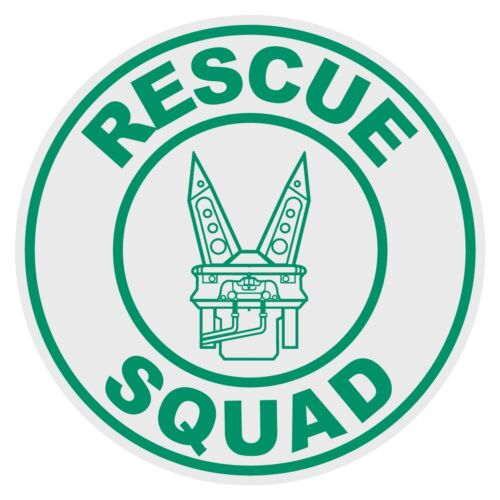 Rescue Squad Small Round Reflective Emergency Decal
