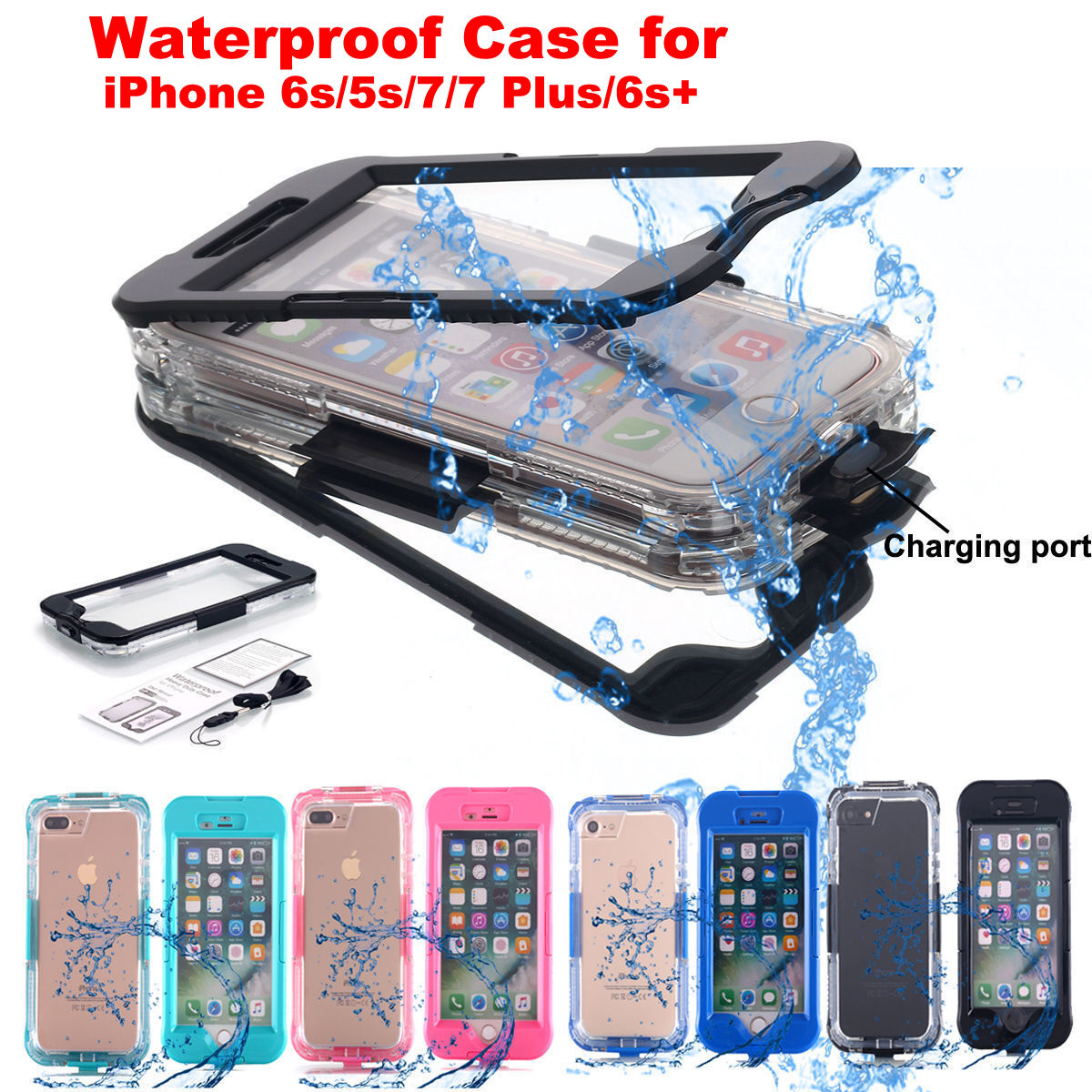 for Apple iPhone 8 Plus/6s/5s/7 Shockproof Waterproof Dirt Proof Case Full Cover