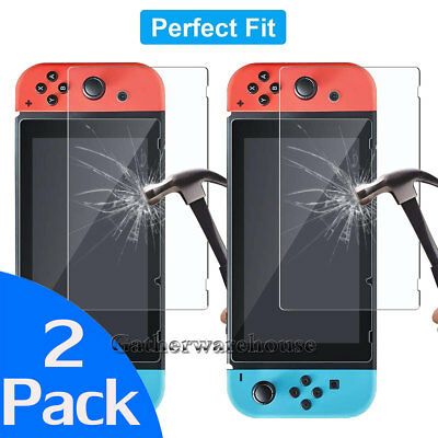 [2-Pack] For Nintendo Switch 2017 Premium Tempered Glass Screen Protector Guard