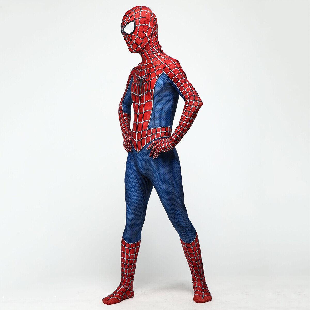 7b13c1955 Classic Raimi Spiderman Men Boys Halloween Cosplay Costume zentai ...