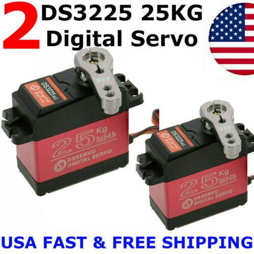 2 X DS3225MG 25KG Metal Gear High Torque Waterproof Digital Servo For RC Z3U0 US