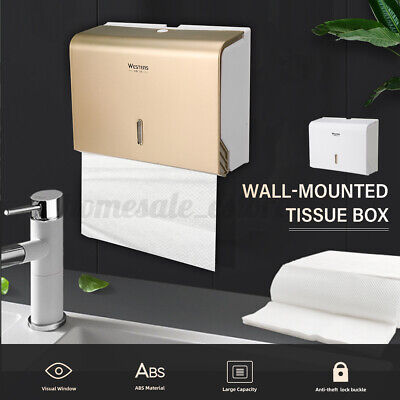 Toilet Paper Towel Dispenser Tissue Box Holder Wall Mounted Bathroom Washroom