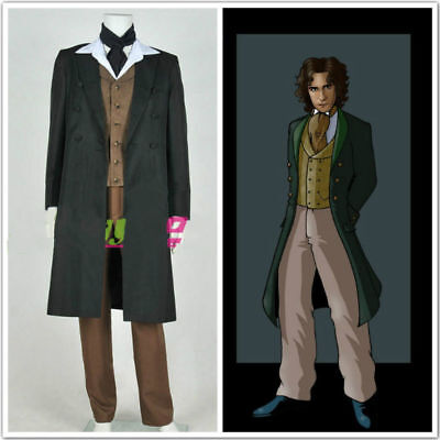 Doctor Who 8th Dr Paul McGann Cosplay Costume Suit Outfit Halloween Costume G.16 - Doctor Who Halloween Outfit