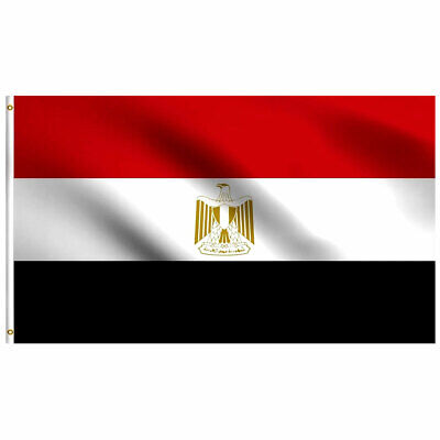 Egypt Egyptian Flag 3×5 Polyester Indoor Outdoor Flag Country Banner Africa Décor