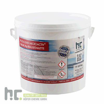 1 x 5 kg Chlor Brausetabletten 20g schnell löslich - Made in EU