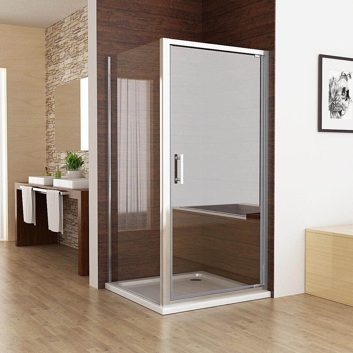 Shower Enclosure Pivot Hinged Door Nano Glass 800x800 900x900 760x760 760x900mm
