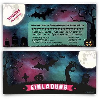 n Horror Karten 31. Oktober Kostüm Party Einladungskarten (Halloween Party 31 Oktober)