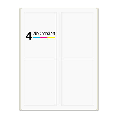 2000 Labels 3.5x5 Rounded Corner Self Adhesive 4 Labels Per Sheet Packzon