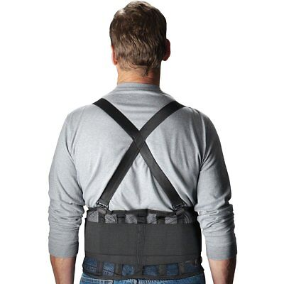 Safety Gear By Pip 290-440 Mesh Back Support Belt - Black - Medium