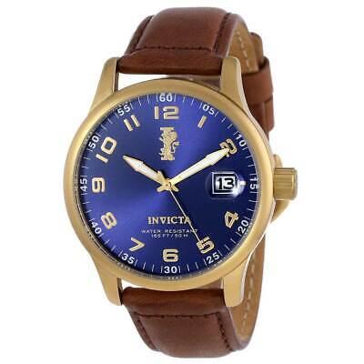 Invicta Men's Watch I-Force Quartz Dark Brown Leather Strap 15255