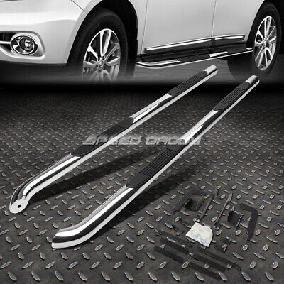 "FOR 12-18 NISSAN PATHFINDER CHROME STAINLESS 3"" SIDE STEP NERF BAR RUNNING BOARD"