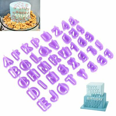 40pcs/Set Icing Cutter Mold Mould Alphabet Number Letter Fondant Cake Decorating - Fondant Molds