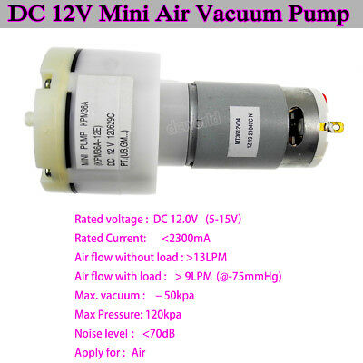 12V DC Mini Miniature Suction Air Vacuum Pump Compressor Inflator Fish Tank Pump - Miniature Vacuum Pump