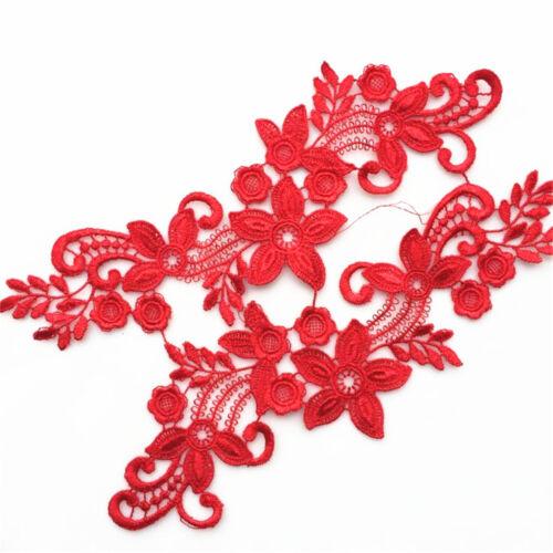 3D Spitze Applique Trim Stickerei Nähen Motiv DIY Hochzeit Braut Handwerk