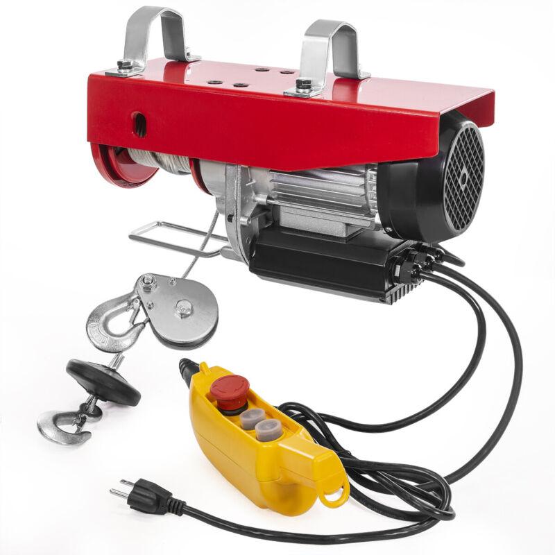 Overhead Lift Electric Wire Hoist 2000Lbs Winch Hoist Crane W/ Remote Control