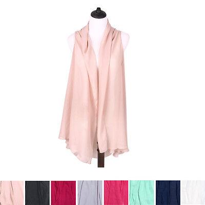 TrendsBlue Multi Use Solid Color Chiffon Kimono Scarf Wrap Vest Beach Cover Up - Multi Use Color