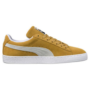 PUMA Suede Classic Men s Casual Trainers Mustard 45 for sale online ... abc0f266529e