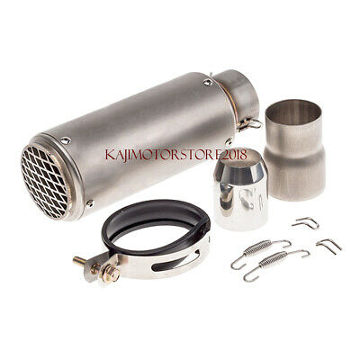 Universal Motorcycle Exhaust Muffler Pipe Stainless Tail Tube 60mm 51MM