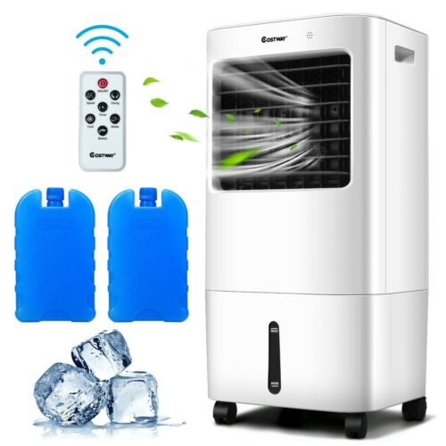 Portable Evaporative Air Cooler Fan with Remote Control Humidification Function