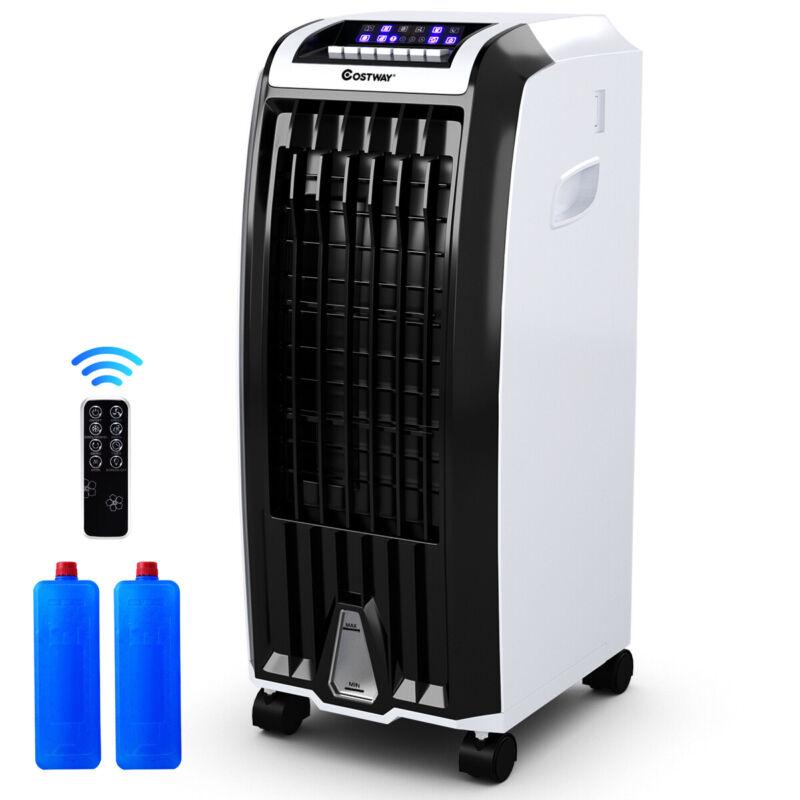 Evaporative Portable Air Cooler Fan Anion Humidify W/ Remote Control