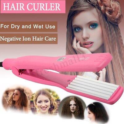 Women Professional Hair Curling Crimper Iron Curl Anion Wave Machine Salon Wand