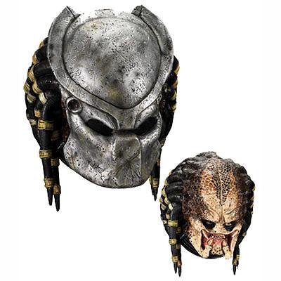 Predator Kostüme (Rubies Alien Vs Predator Avp Luxus Erwachsene mit Kapuze Latex Maske 4149)