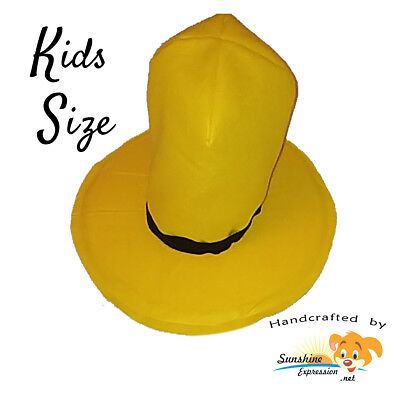KIDS SIZE Man in the yellow HAT Curious George school function costume accessory