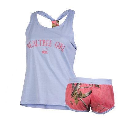 RealTree Girl Camo Karlie Cami Set Lingerie Sleepwear Pajamas Women's Gift T26 (Girls Pj Set)
