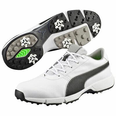 Puma Golf Mens Drive IGNITE Golf Shoes - White/Black - UK 8.5