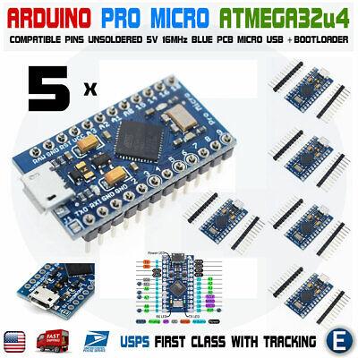 5pcs Arduino Pro Micro Atmega32u4 5v 16mhz Replace Atmega328 Pro Mini Leonardo