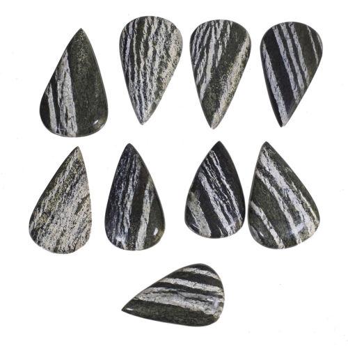 9 Pcs Natural Chrysotile Serpentine Superb Quality 42mm-50mm Cabochon Gemstones