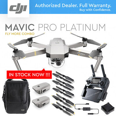 DJI MAVIC PRO PLATINUM w/ 4K Stabilized Camera. FLY MORE COMBO